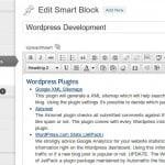 Smart blocks create content