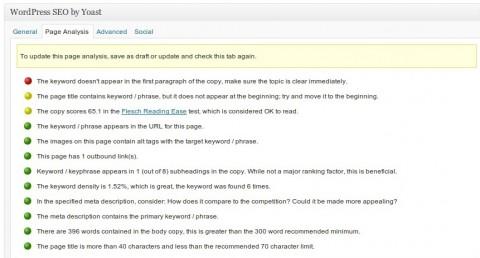 SEO page analysis