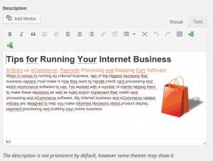 WordPress category description