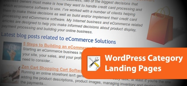WordPress Category Pages