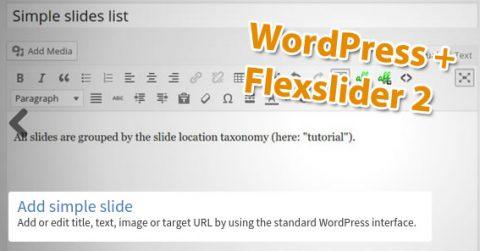 WordPress image slider