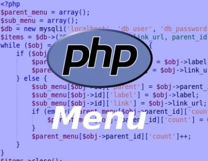 Dynamic menu in PHP