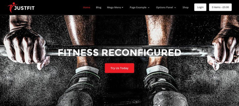 JustFit WordPress theme