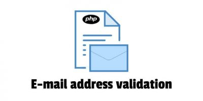 Email address format validation